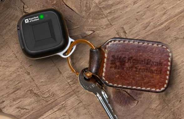 NatWest biometric paymbent fob on a keyring