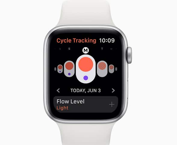 Apple Watch Connected app with cycle tracking