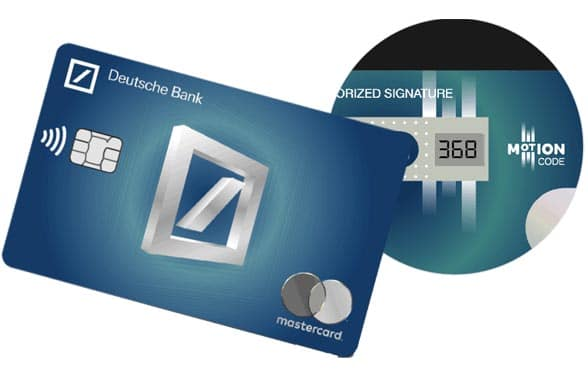 Deutsche Bank Calma Mastercard with dynamic CVV