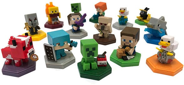 A selection of Minecraft NFC figurines