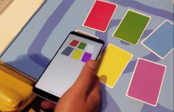 Smartphone tapping NFC enabled cards