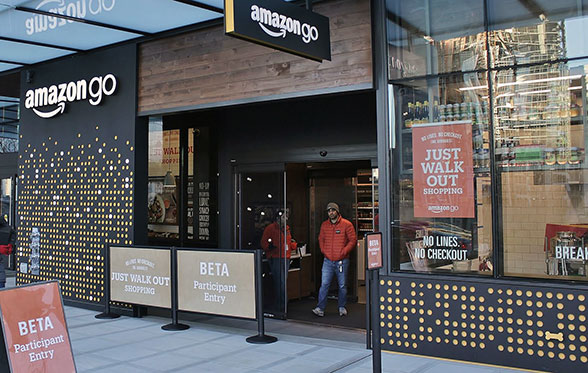 An Amazon Go store in Seattle in December 2016. By SounderBruce - Own work, CC BY-SA 4.0, https://commons.wikimedia.org/w/index.php?curid=56922594