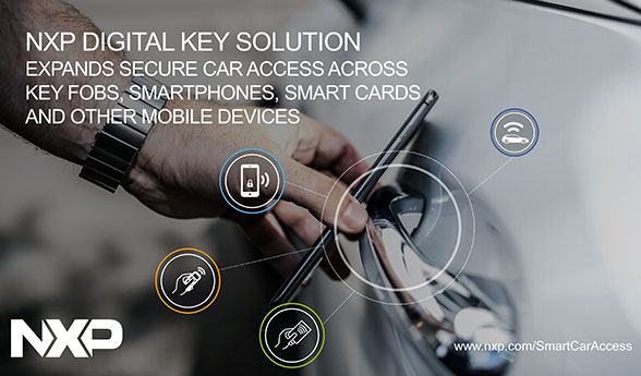 NXP announces NFC digital key solution for smart car access