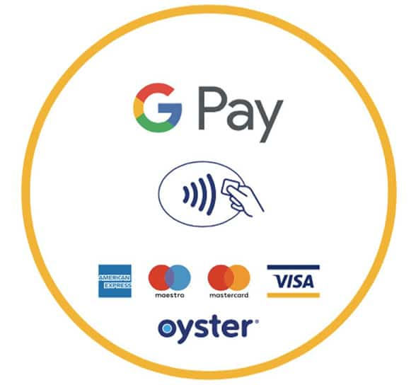 Google Pay contactless reader sticker for TfL/London Underground