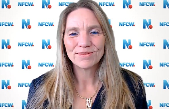 NFCW editor Sarah Clark in a video presentation