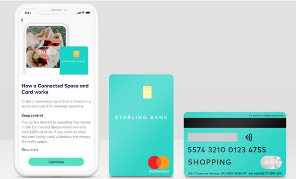 Starling Bank Connected card debit card