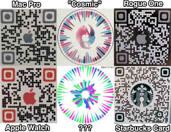 Apple Pay QR codes