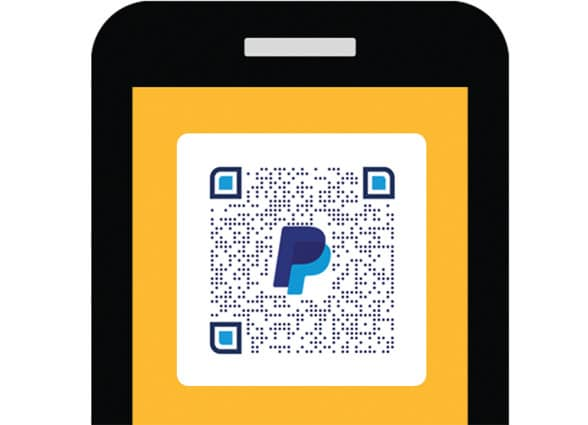 PayPal QR code mobile payments app