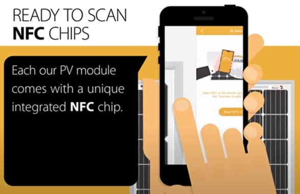 AE Solar NFC PV module for anti-counterfeiting