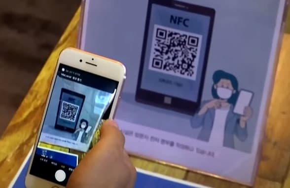 South Korea qr code nfc track and trace Covid-19 app