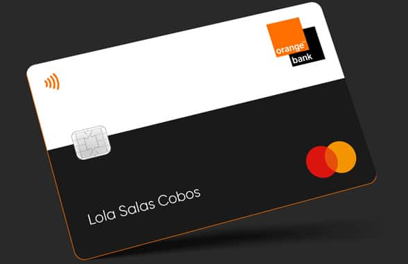 Orange Bank digital debit card