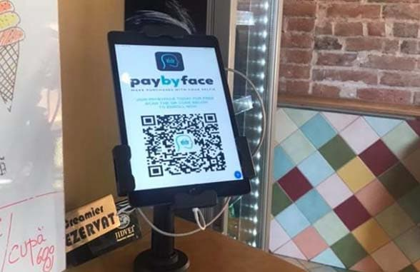 PayByFace terminal om Tucano Coffee Shop, Bucharest