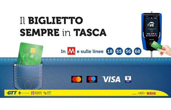Gruppo Torinese Trasporti contactless travel