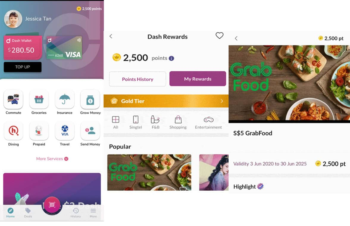 Singtel's mobile wallet with Dash Rewards