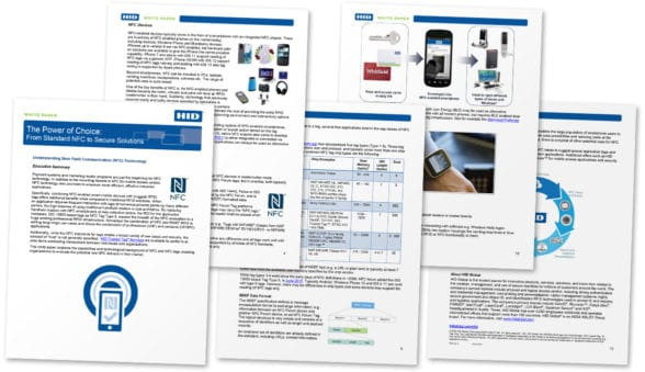 Pages from HID Global's NFC and Rain RFID white paper