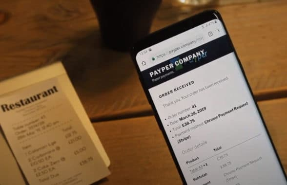 Payper graphene based NFC receipt and smartphone