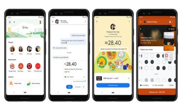 Google pay on Singapore smartphones