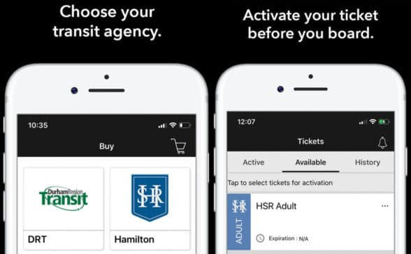 Metrolinx Toronto Presto E-tickets on smartphones