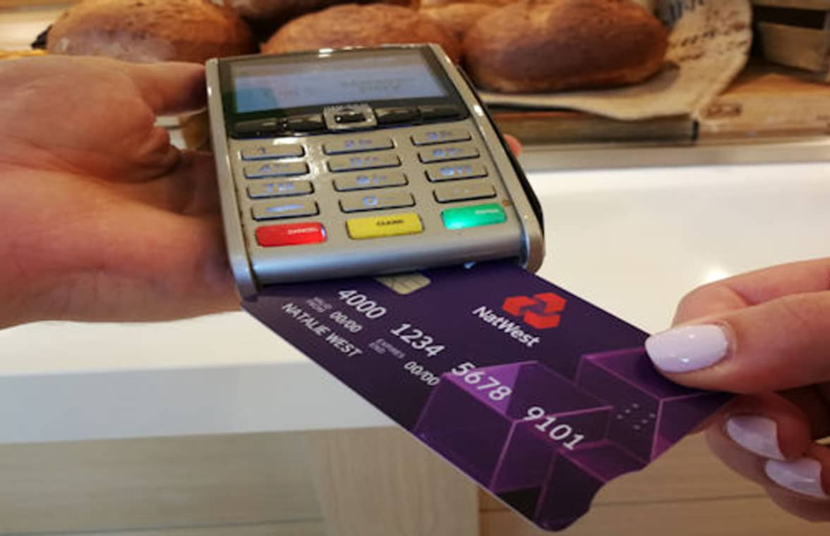 Cash withdrawal using a NatWest debit card