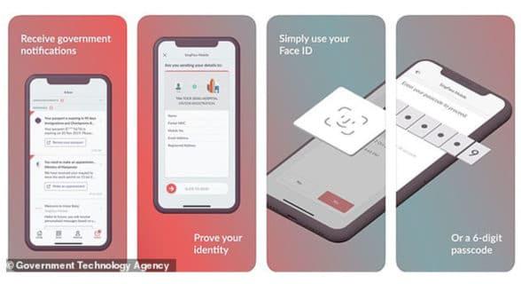 GovTech Singapore face id for Singpass digital id