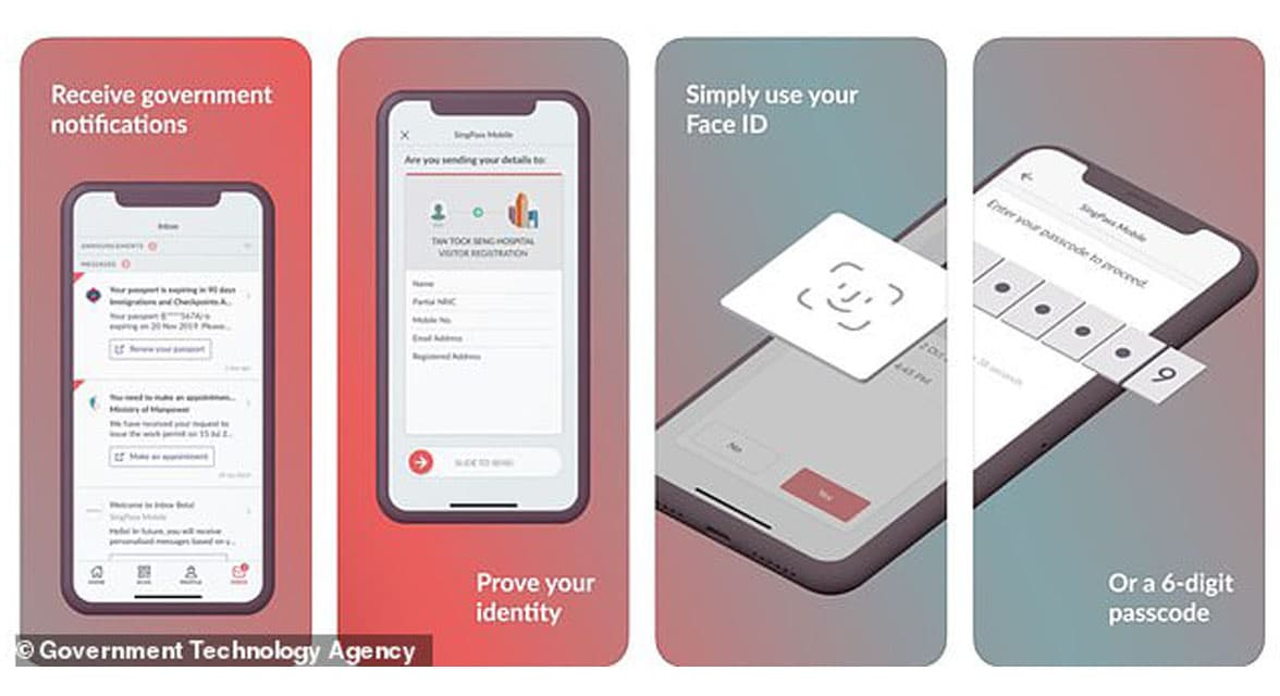 GovTech Singapore face id for Singpass digital id