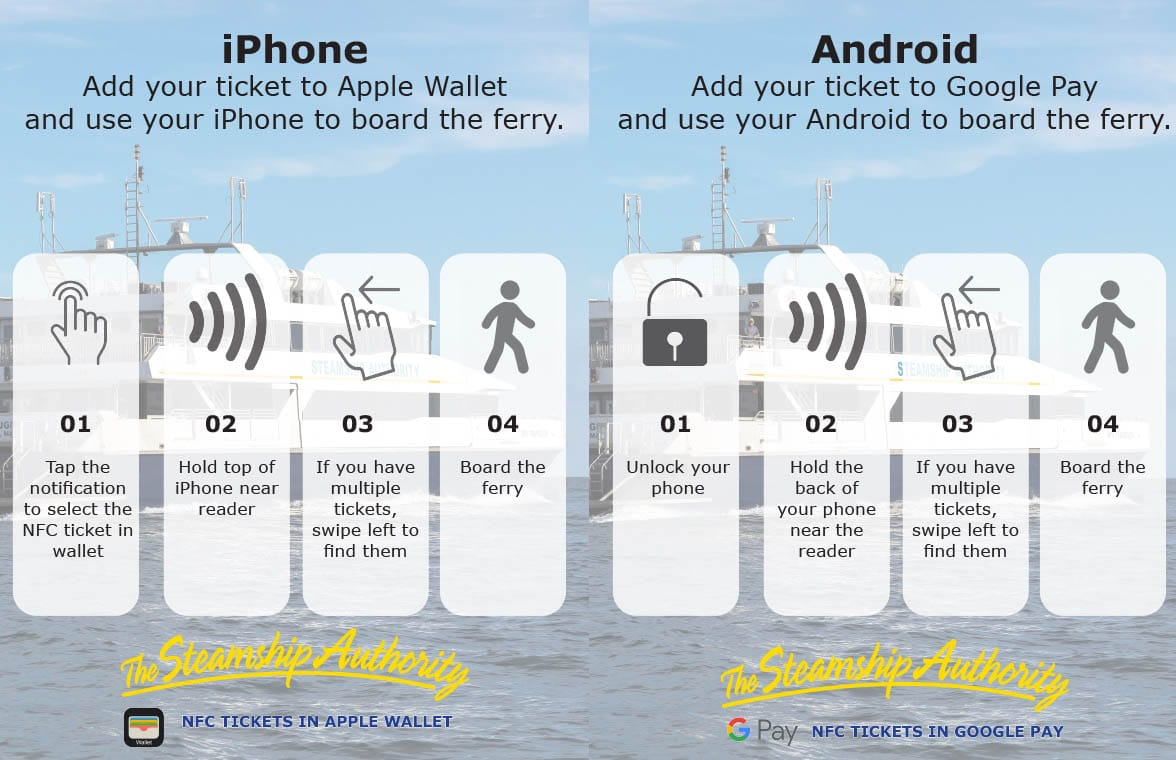 Steamship Authority eFerry NFC mobile ticketing