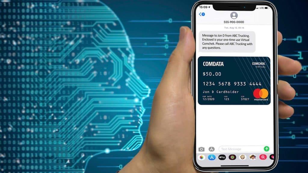 Comdata Virtual Comcheck digital payment on smartphone
