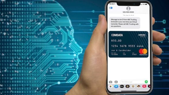 Comdata Virtual Comcheck digital payment on smartphone