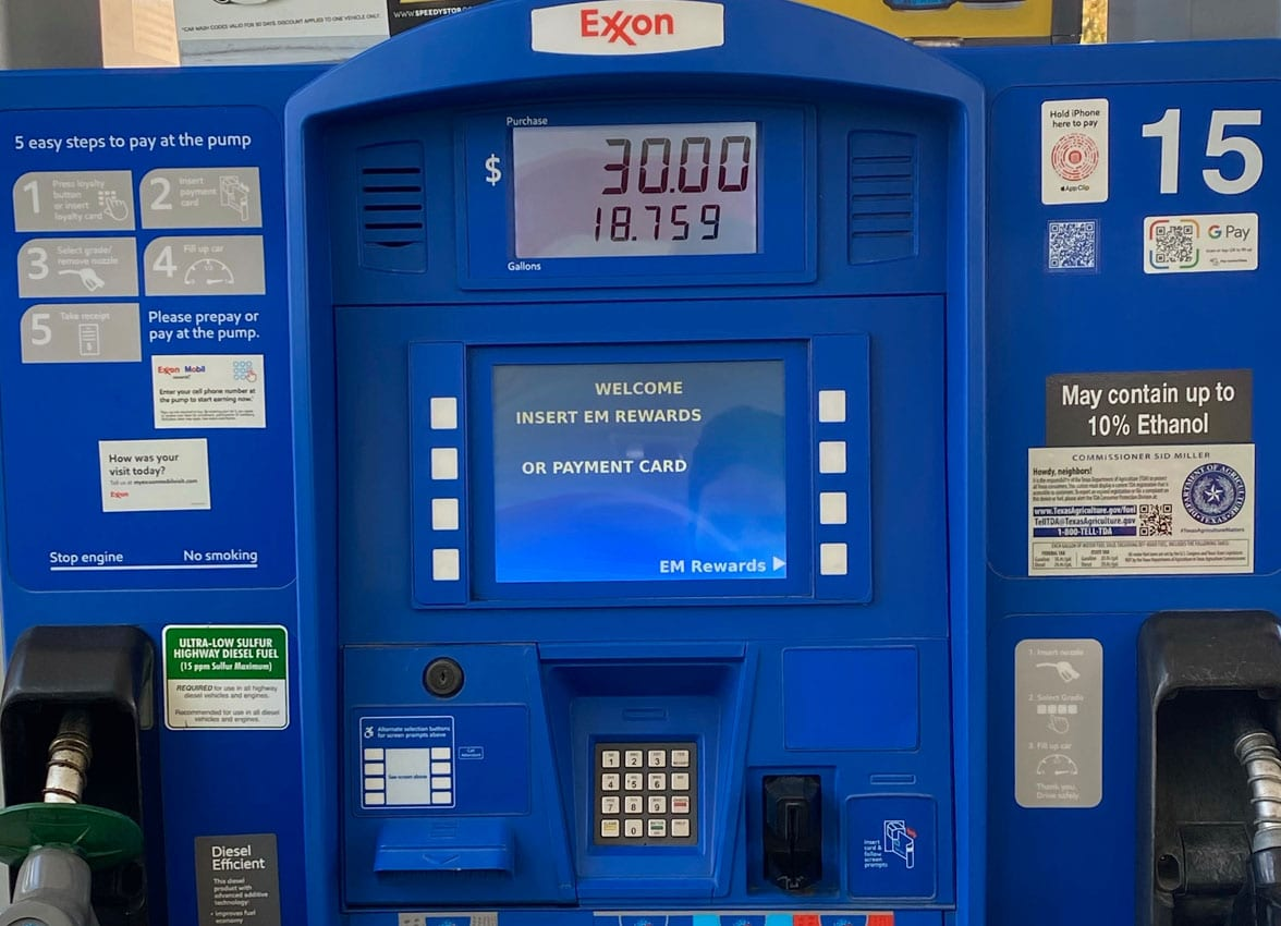 ExxonMobil NFC QR contactless payment at pump