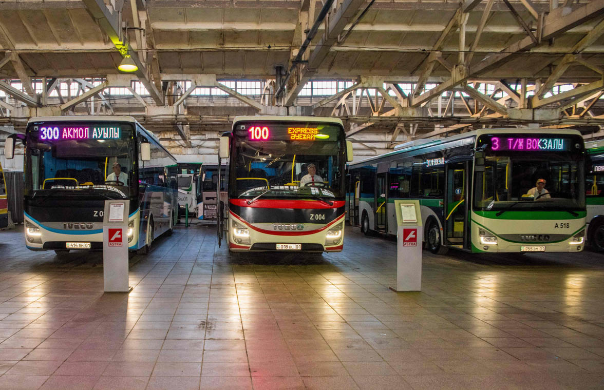 Electric buses in Nur Sultan which will get face recognition payments