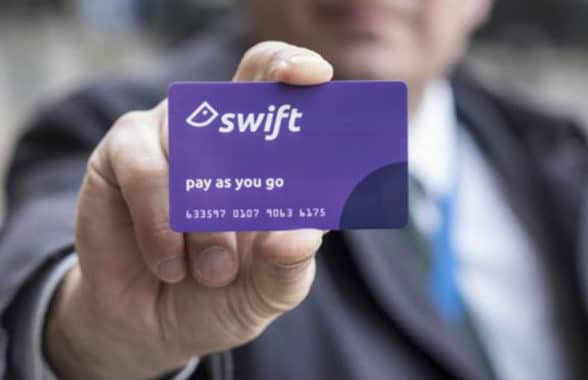 Swift pay as you go for travel on public transport in the West Midlands