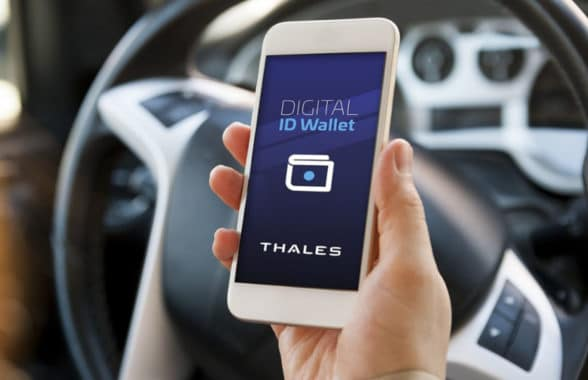 Thales digtal Id and driving licence on a smartphone