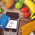 Contactless Visa card used at POS
