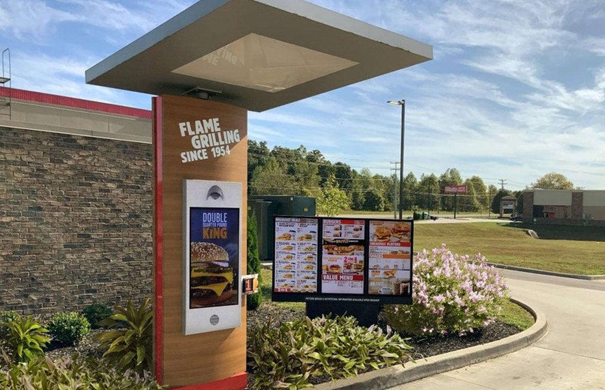 Burger King digital menu board