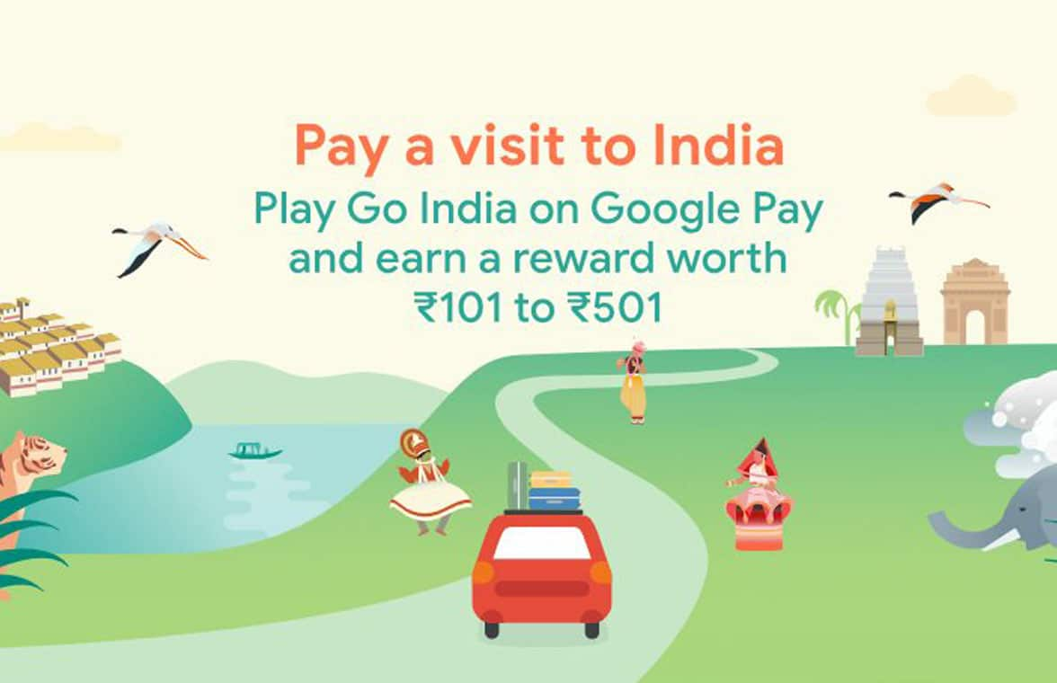 Google Pay Play India mobile payments rewards game infographic