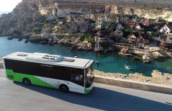 Malta Public Transport bus with contactless fare payment