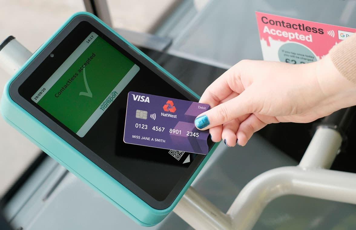 Contactless card used on Nottingham Contactless system