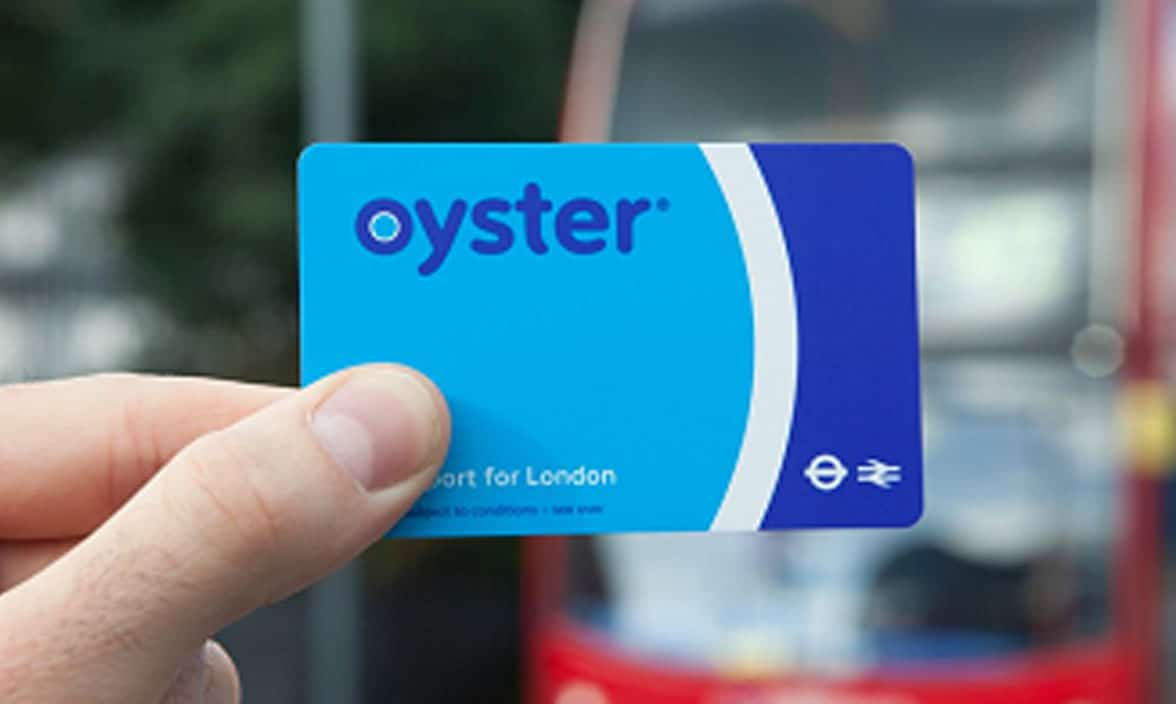 Transport for London Oyster contactless transit card