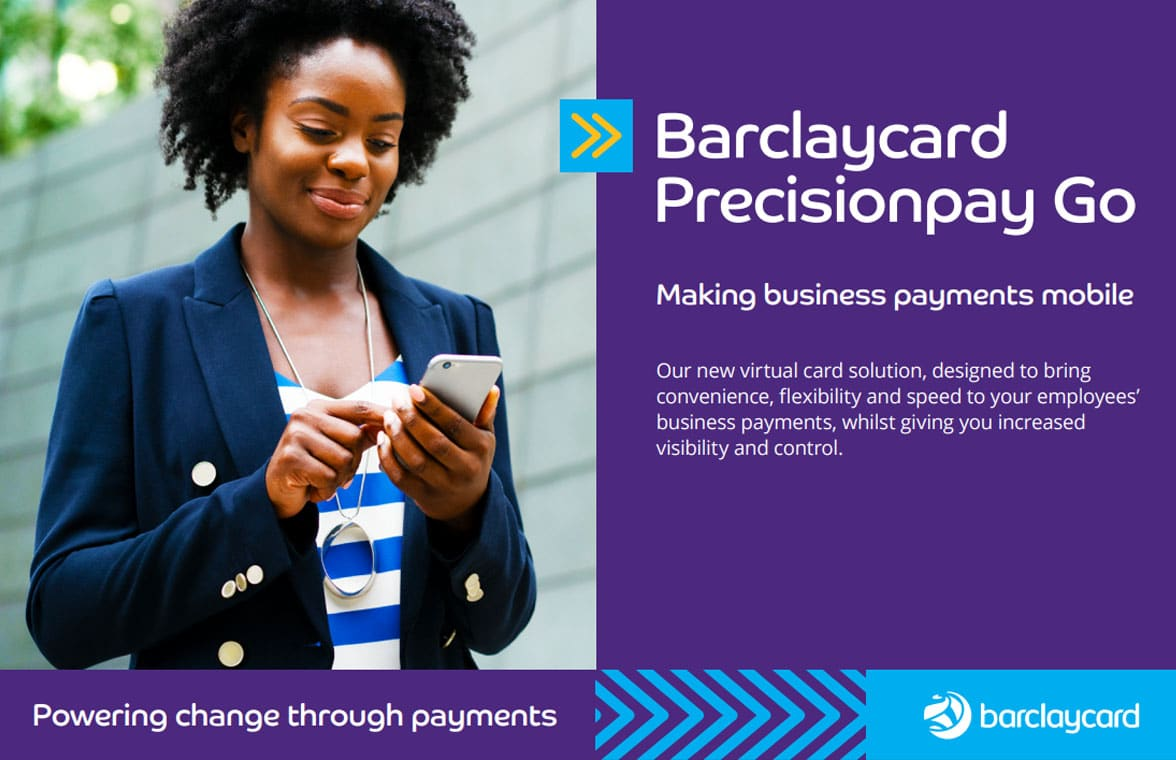 Barclaycard Precision Pay Go corporate digital card for business