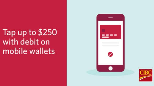 CIBC raises mobile wallet and smartwatch contactless transaction limit