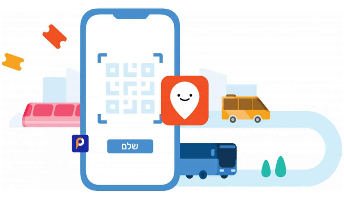 Israel public transport ticketing illustration