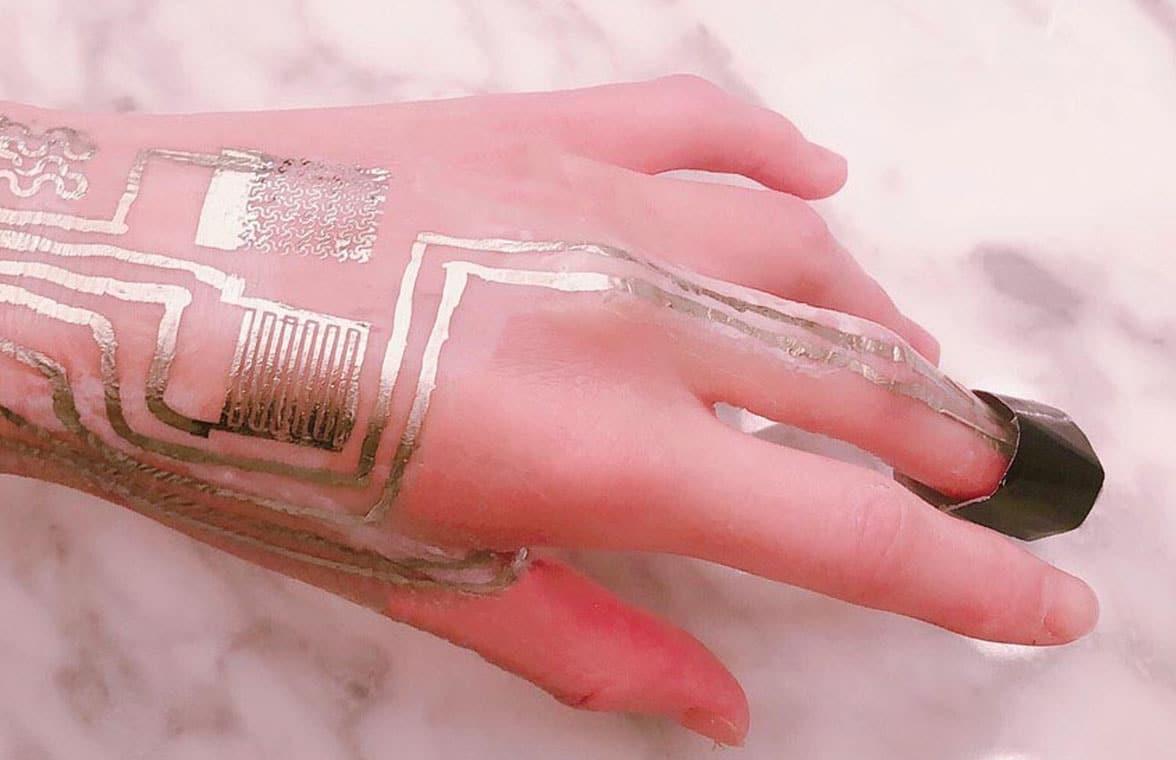 Penn State NFC sensors word on a hand