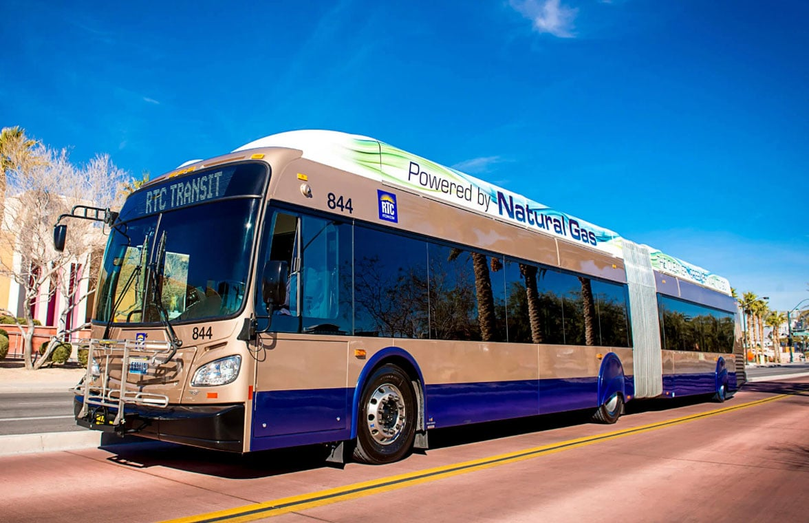 RTC Southern Nevada bus equipped to take contactless payments