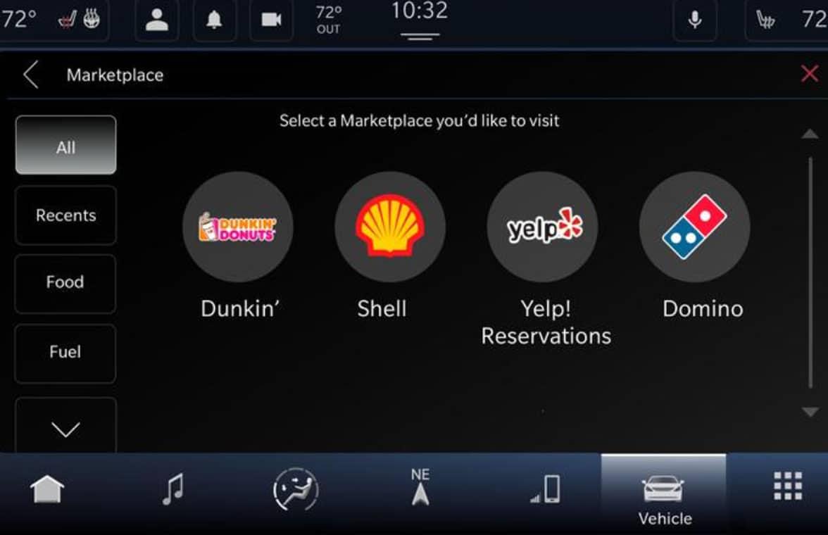 Fiat Chrysler Uconnrect Market screenshot