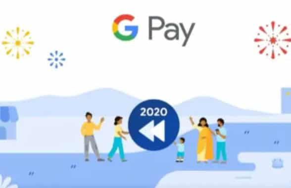 Google Pay 2020 spending data view screenshot