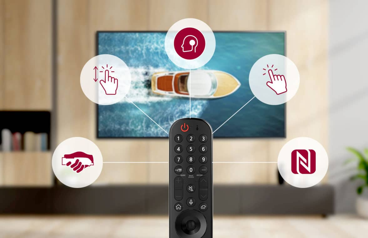 LG Magic Remote NFC control for Smart TVs