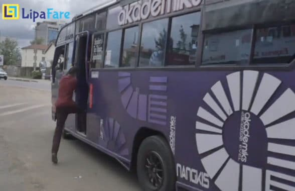 Lipafare cashless payments on Matatu minibuses