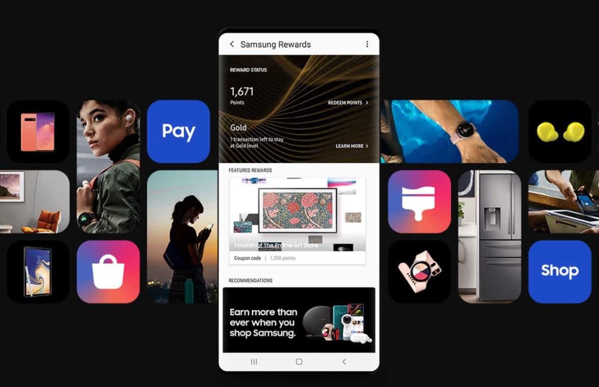 Samsung Pay rewards scheme on smartphone