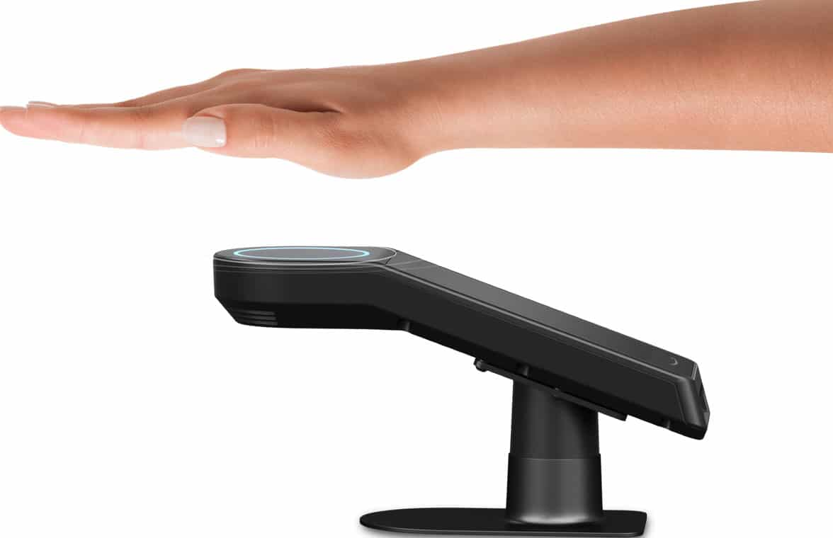Amazon One palm print payments system in use