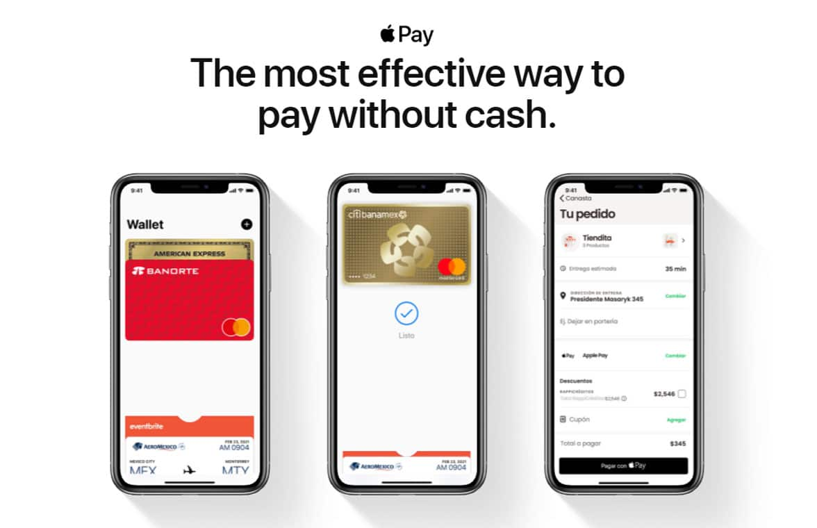 Apple Pay Mexico on smartphones